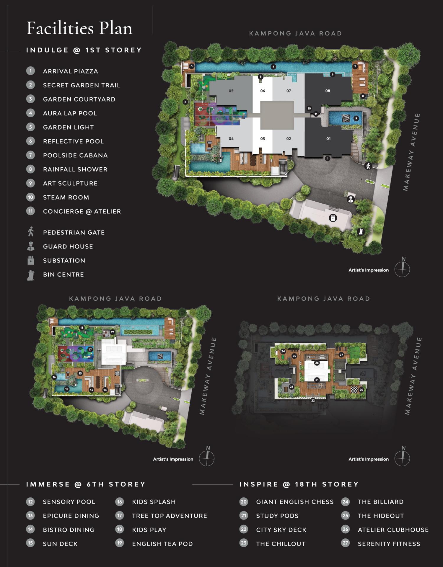 The Atelier site plan