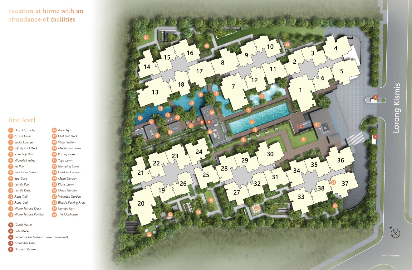 View at Kismis site plan