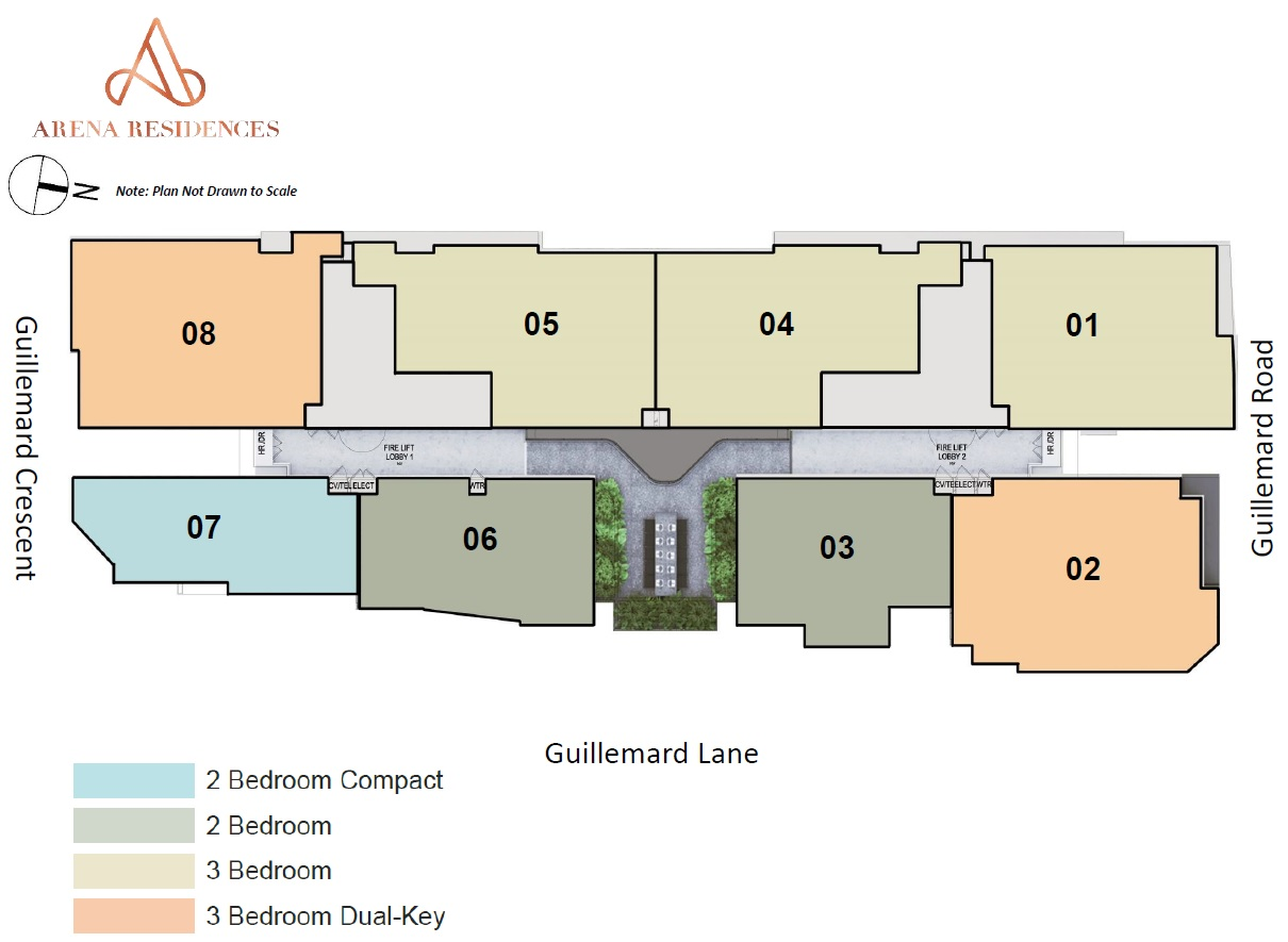 Arena Residences site plan