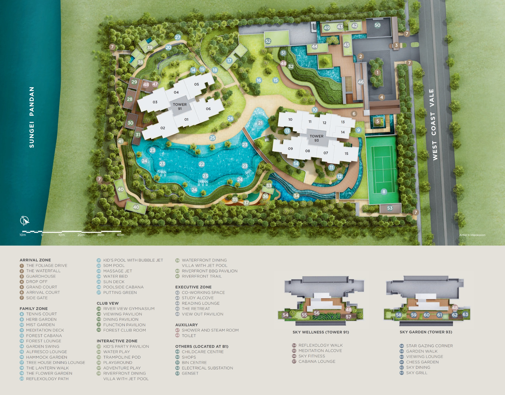 Twin VEW site plan