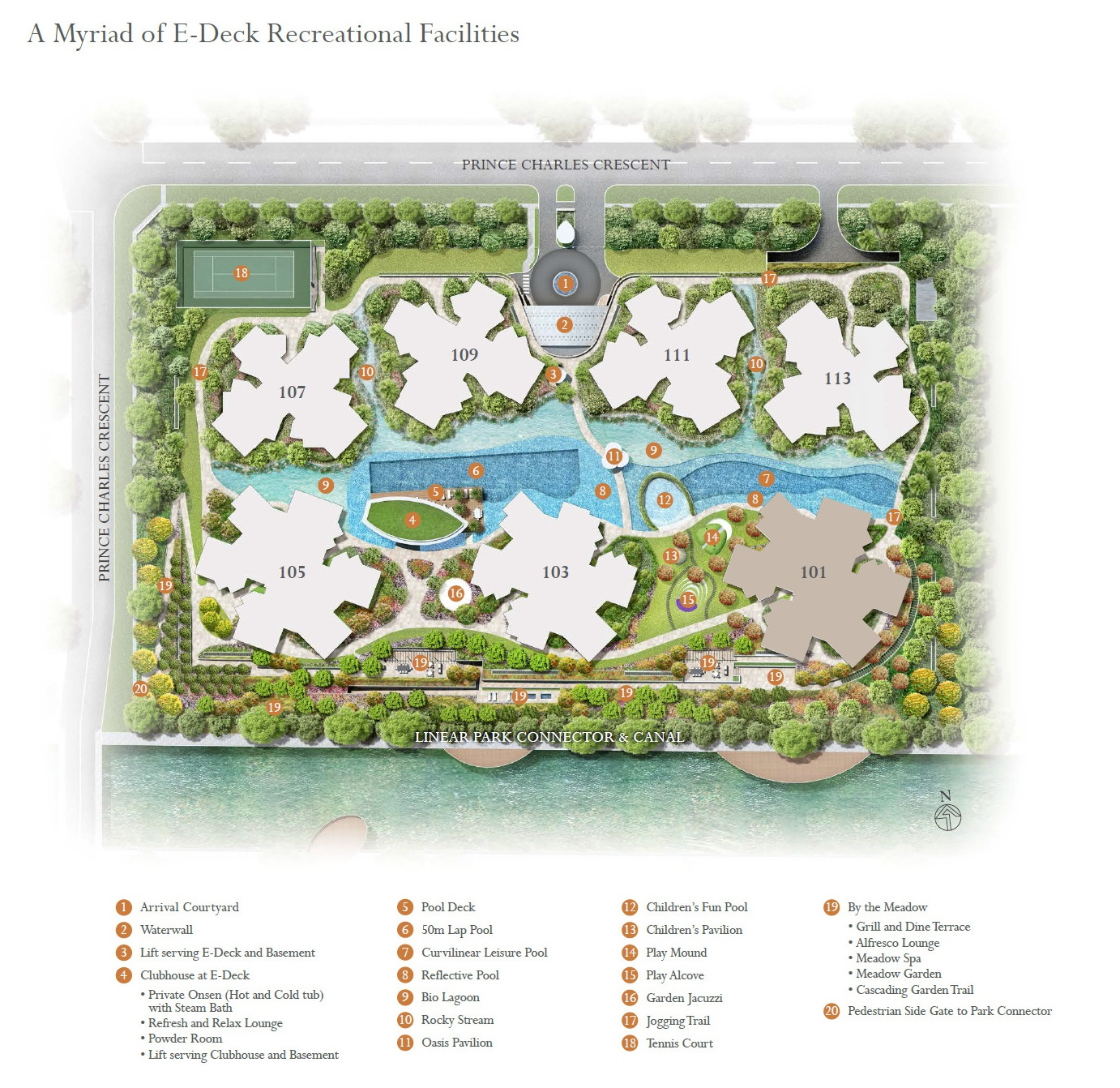 The Crest (at Prince Charles) site plan