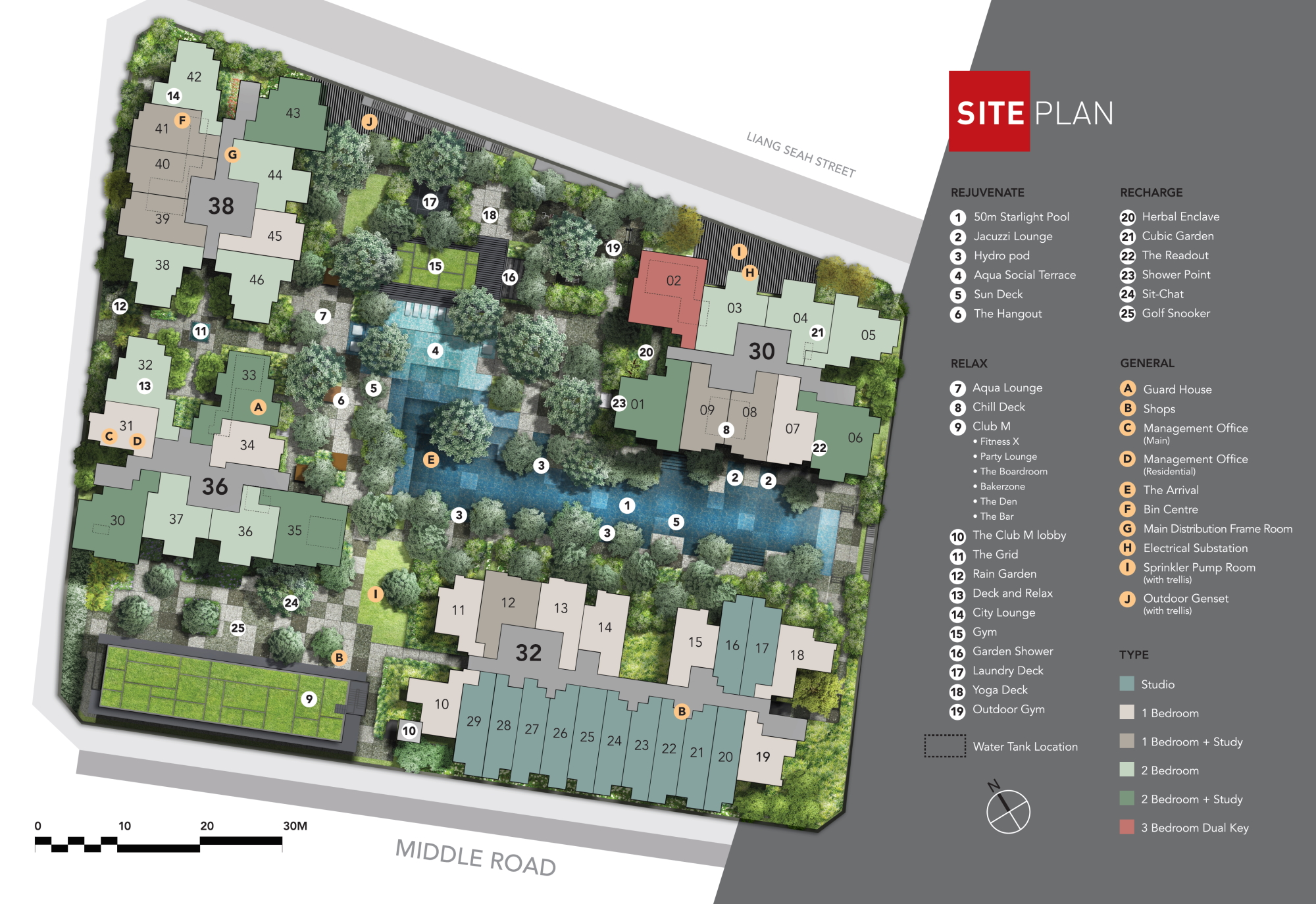 The M site plan