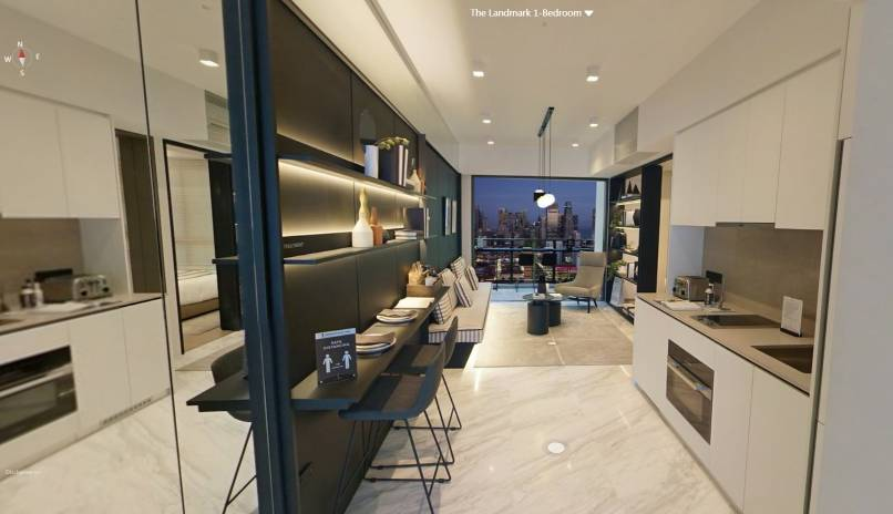 3D Virtual Tour of The Landmark 1 Bedroom Type A1, 517 sqft
