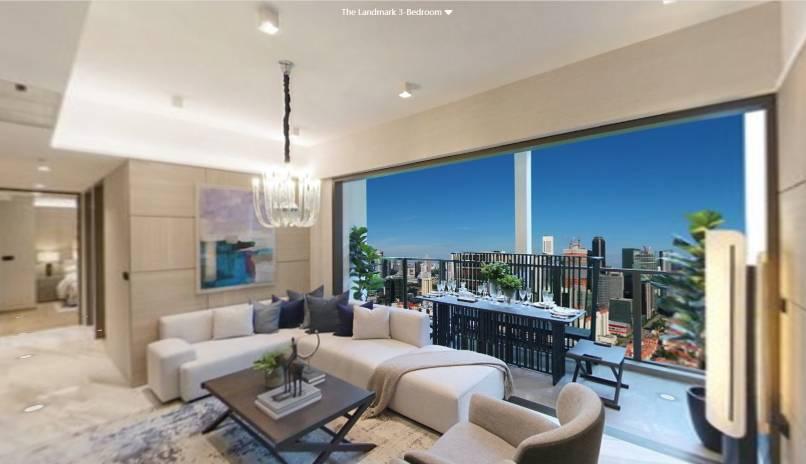 3D Virtual Tour of The Landmark 3 Bedroom Type B2, 678 sqft