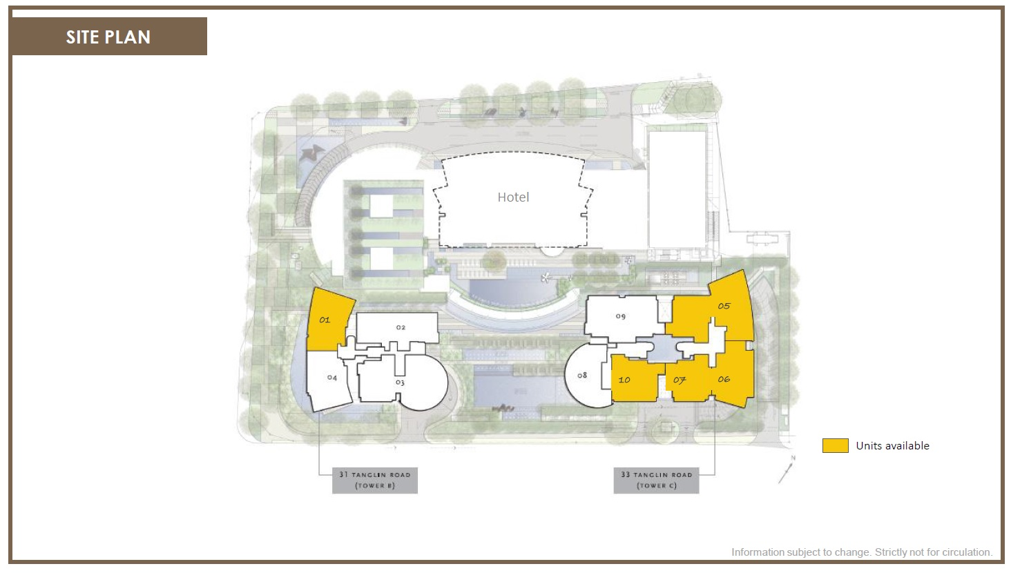 St. Regis Residences (瑞吉雅居) site plan