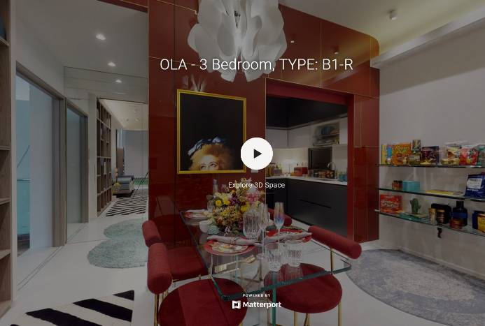 3D Virtual Tour of Ola EC 3 Bedroom Type B1-R, 926 sqft