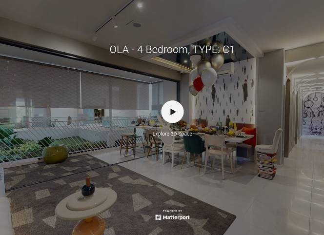 3D Virtual Tour of Ola EC 4 Bedroom Type C1, 1389 sqft