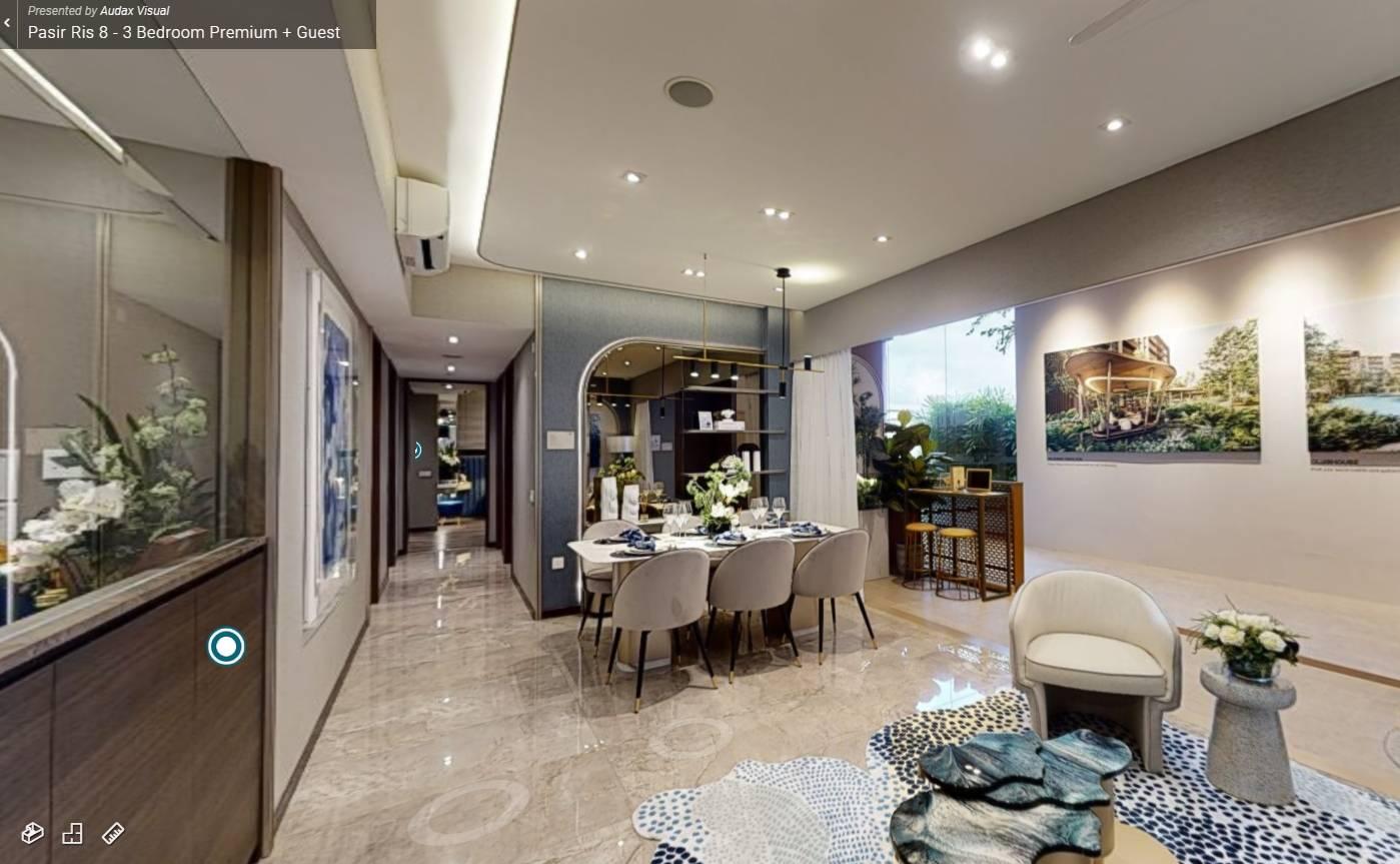 3D Virtual Tour of Pasir Ris 8 3 Bedroom Premium + Guest Showflat
