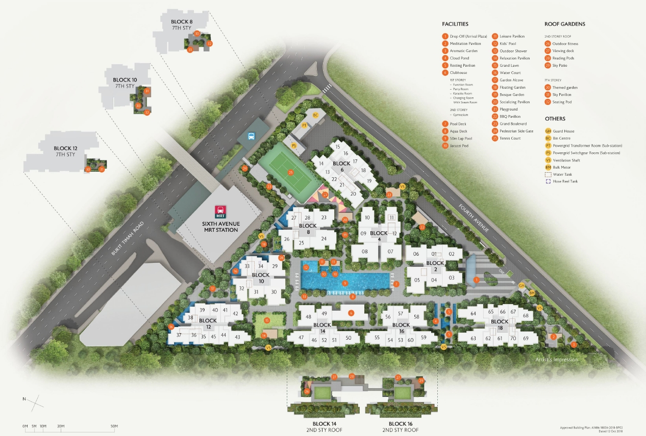 Fourth Avenue Residences(富雅轩) site plan