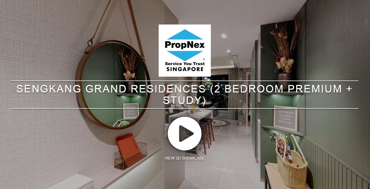 3D Virtual Tour of Sengkang Grand Residences 2 Bedroom Premium + Study