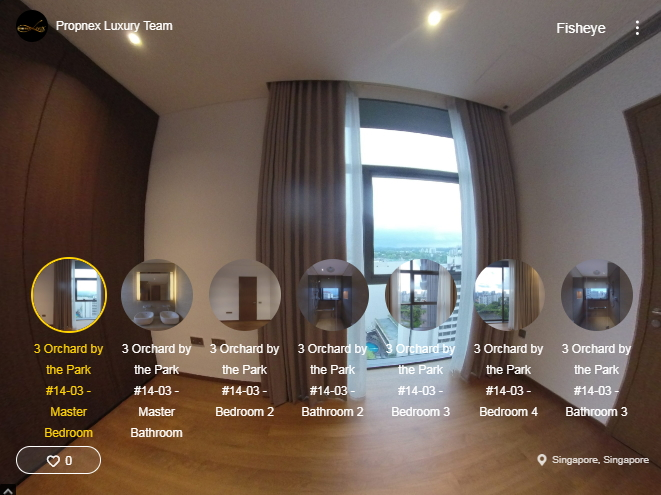 3D Virtual Tour of 3 Orchard By-The-Park 4 Bedroom Showflat #14-03 2260 sqft