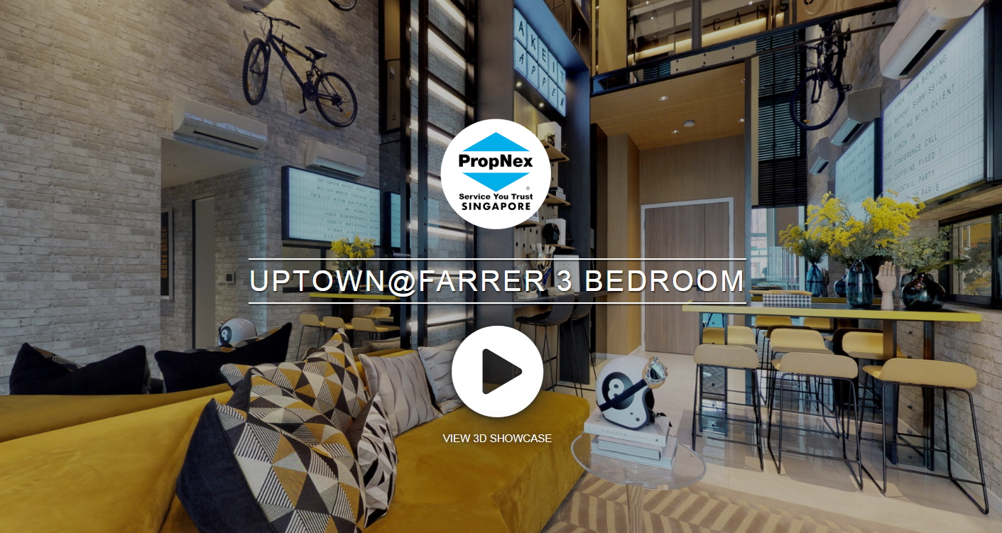 3D Virtual Tour at Uptown @ Farrer 3 Bedroom, 1001 sqft