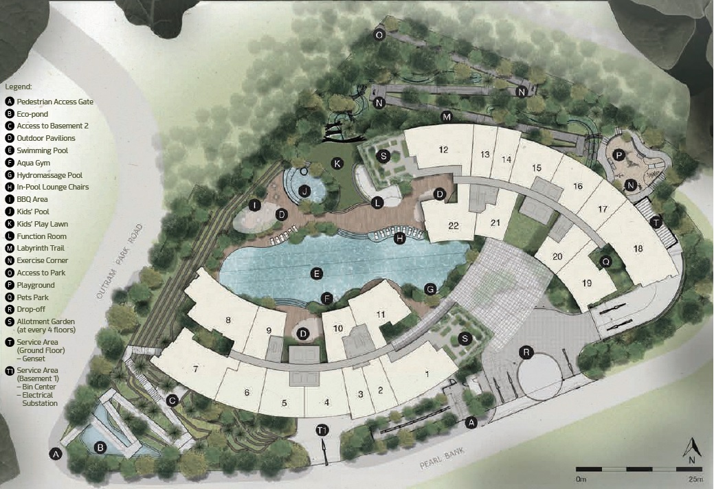 One Pearl Bank site plan