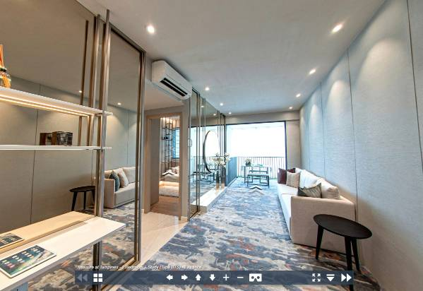 3D Virtual Tour of Treasure at Tampines 2 Bedroom + Study Type B7S