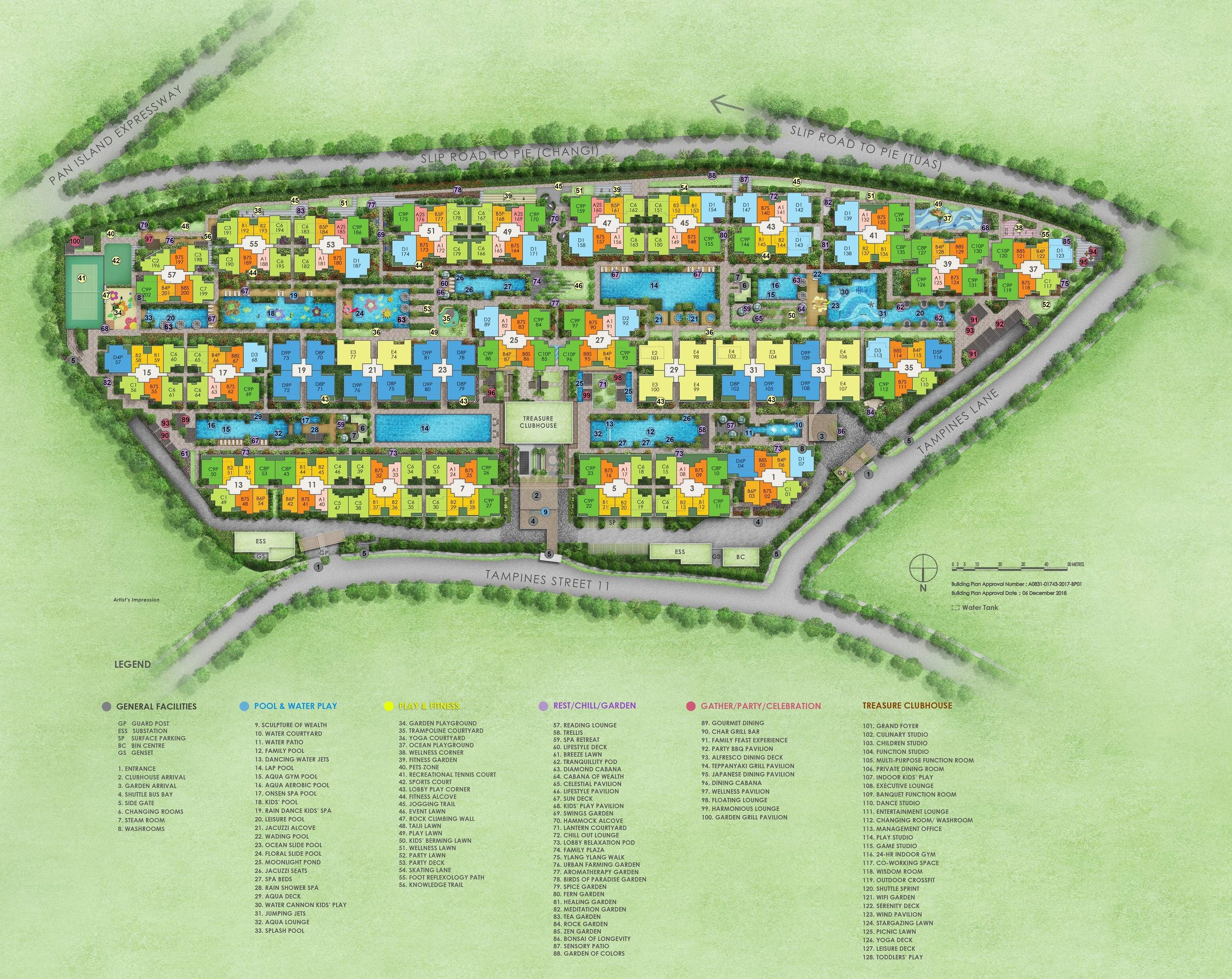 Treasure at Tampines Site Plan