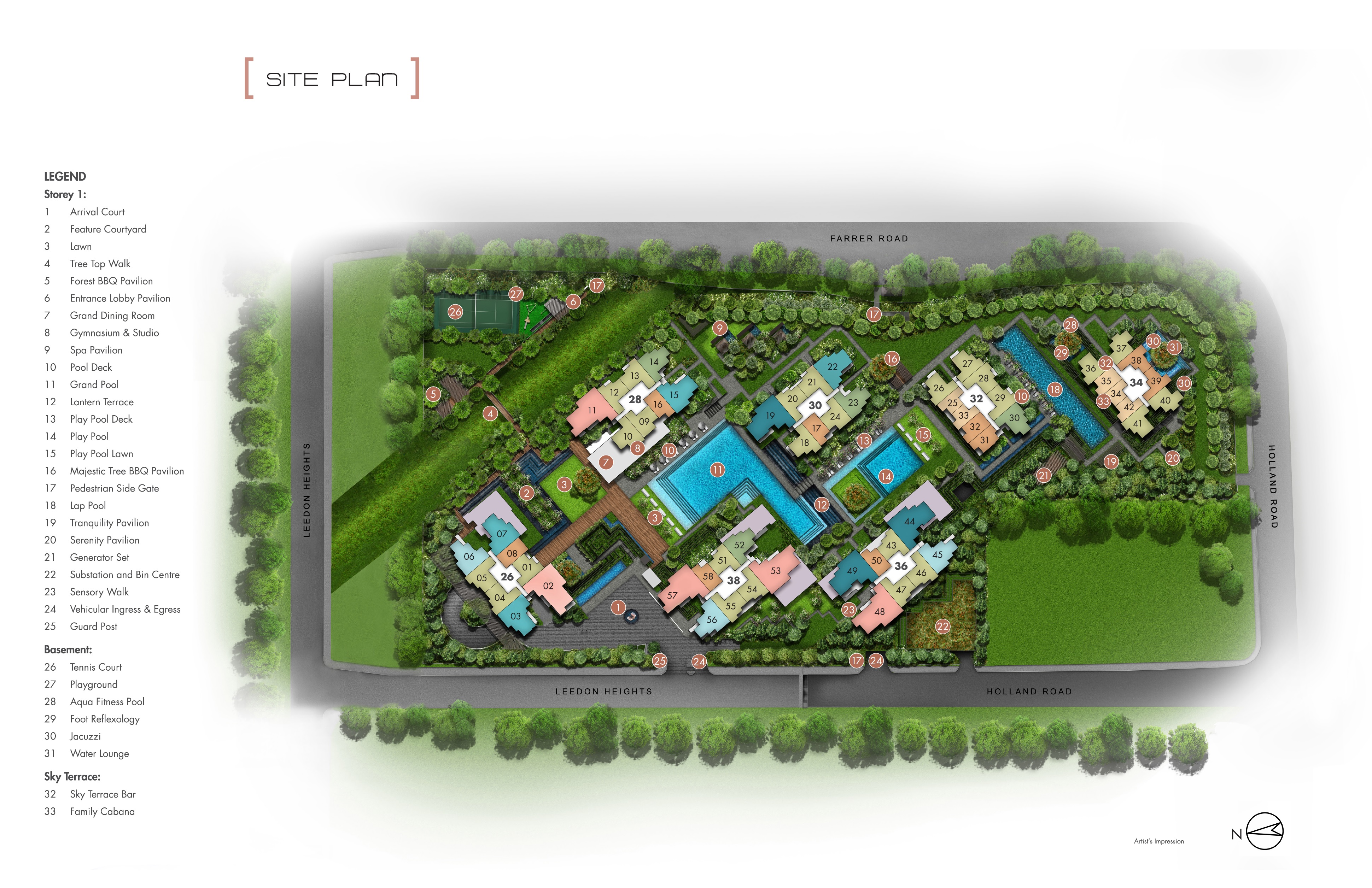 Leedon Green (绿墩雅苑) site plan