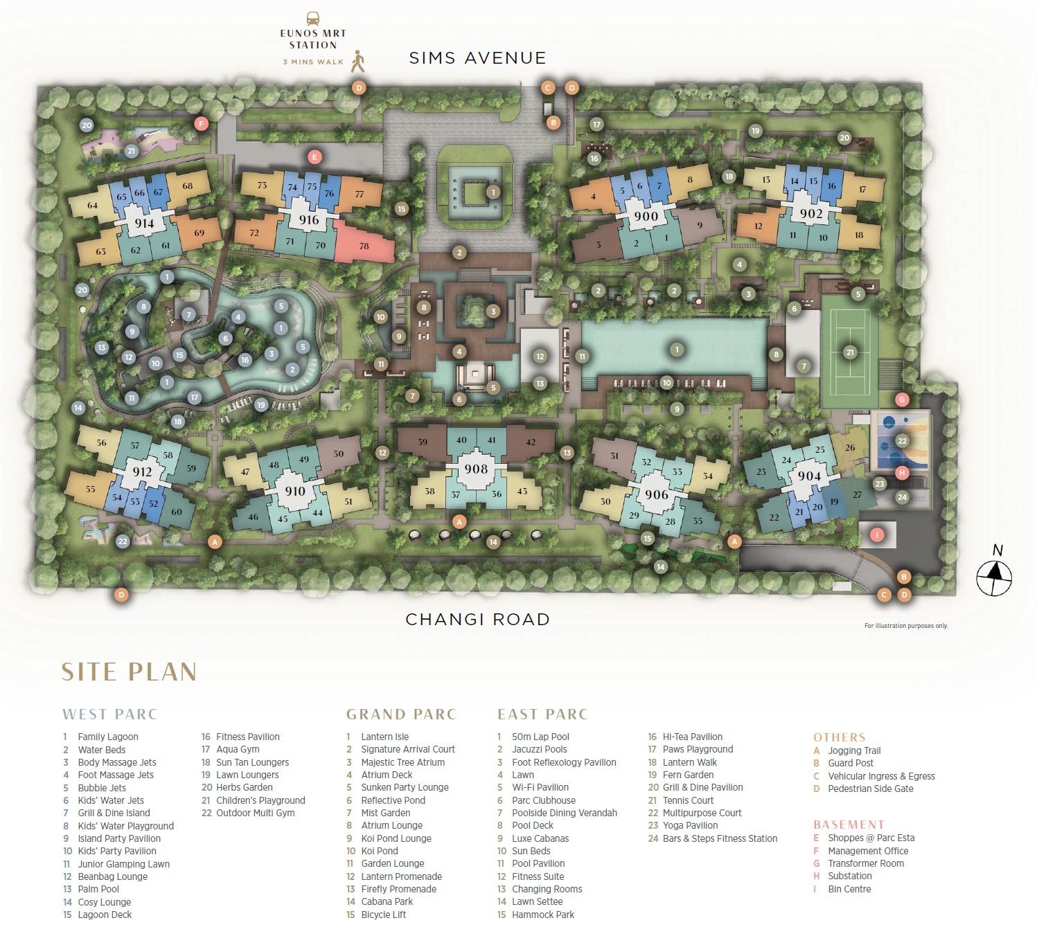 Parc Esta, 东景苑 site plan