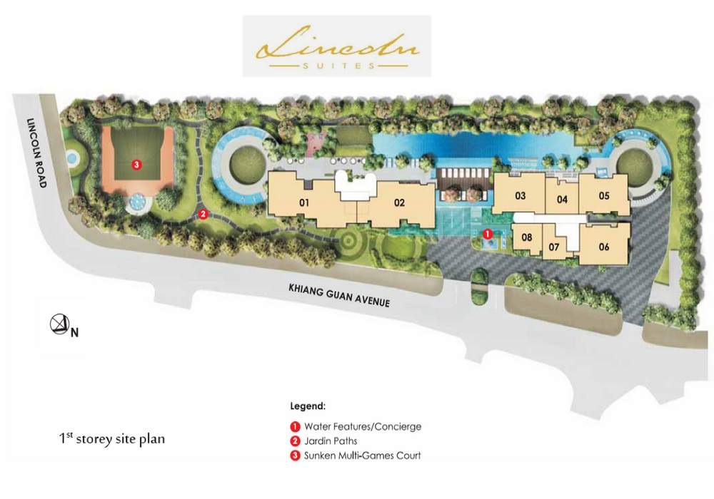 Lincoln Suites site plan