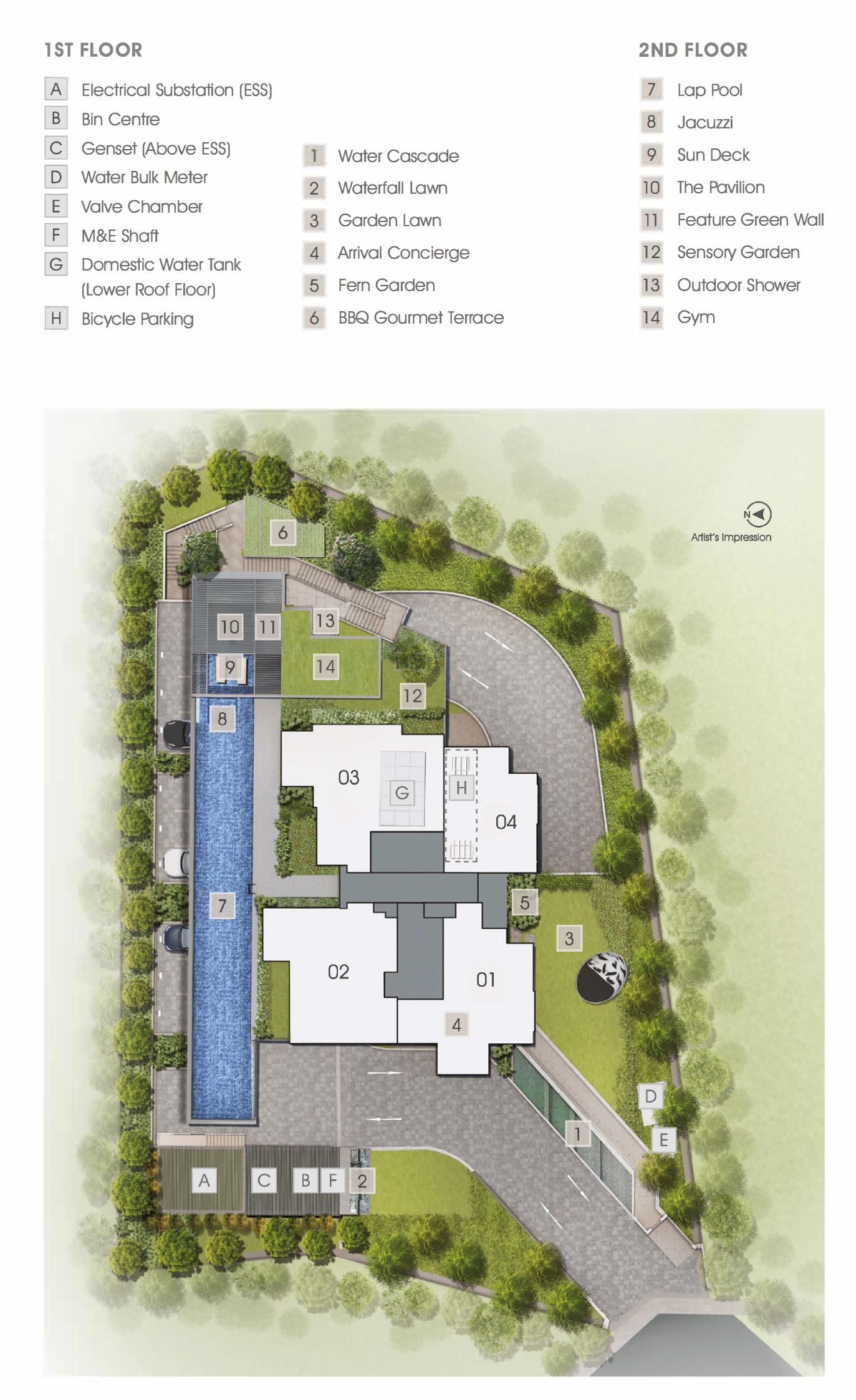 Grange 1866 site plan