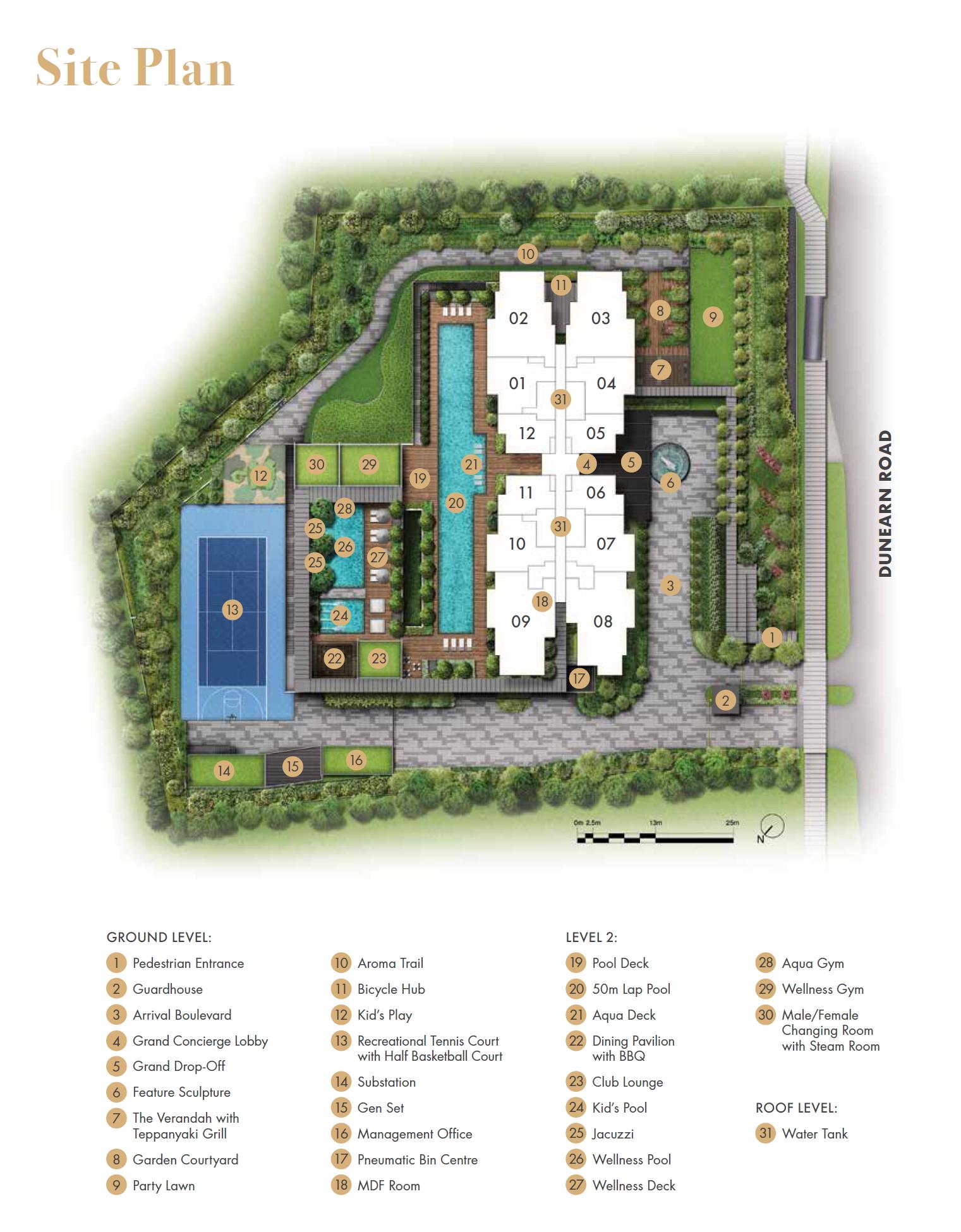 Pullman Residences (铂尔曼阁) site plan