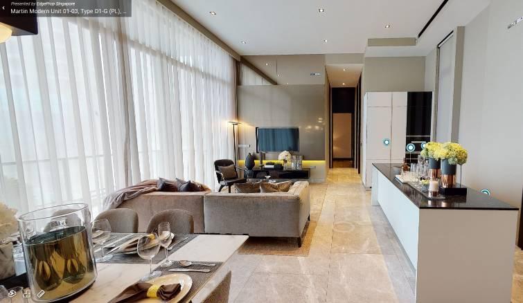 3D Virtual Tour of Martin Modern 4 Bedroom Premium Unit 01-03, Type D1-G (PL), 1701 sqft