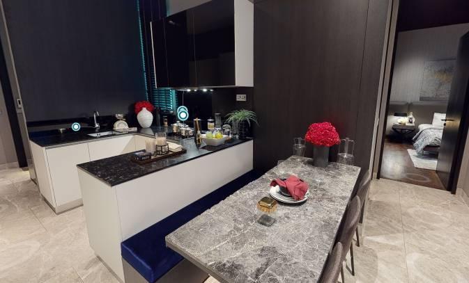 3D Virtual Tour of Martin Modern 2 Bedroom + Study, Unit 01-04, Type BS-G, 872 sqft