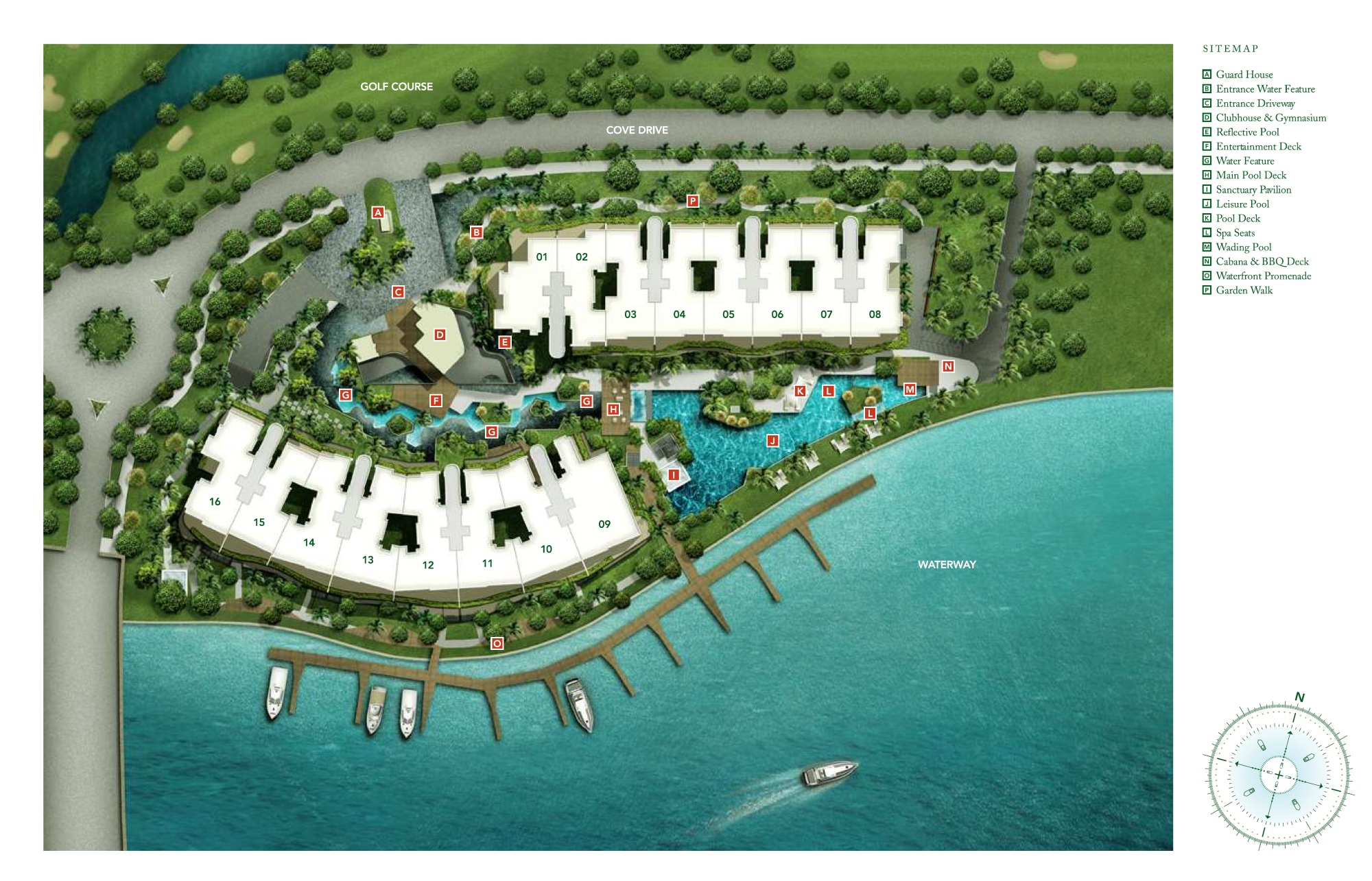 Turquoise site plan