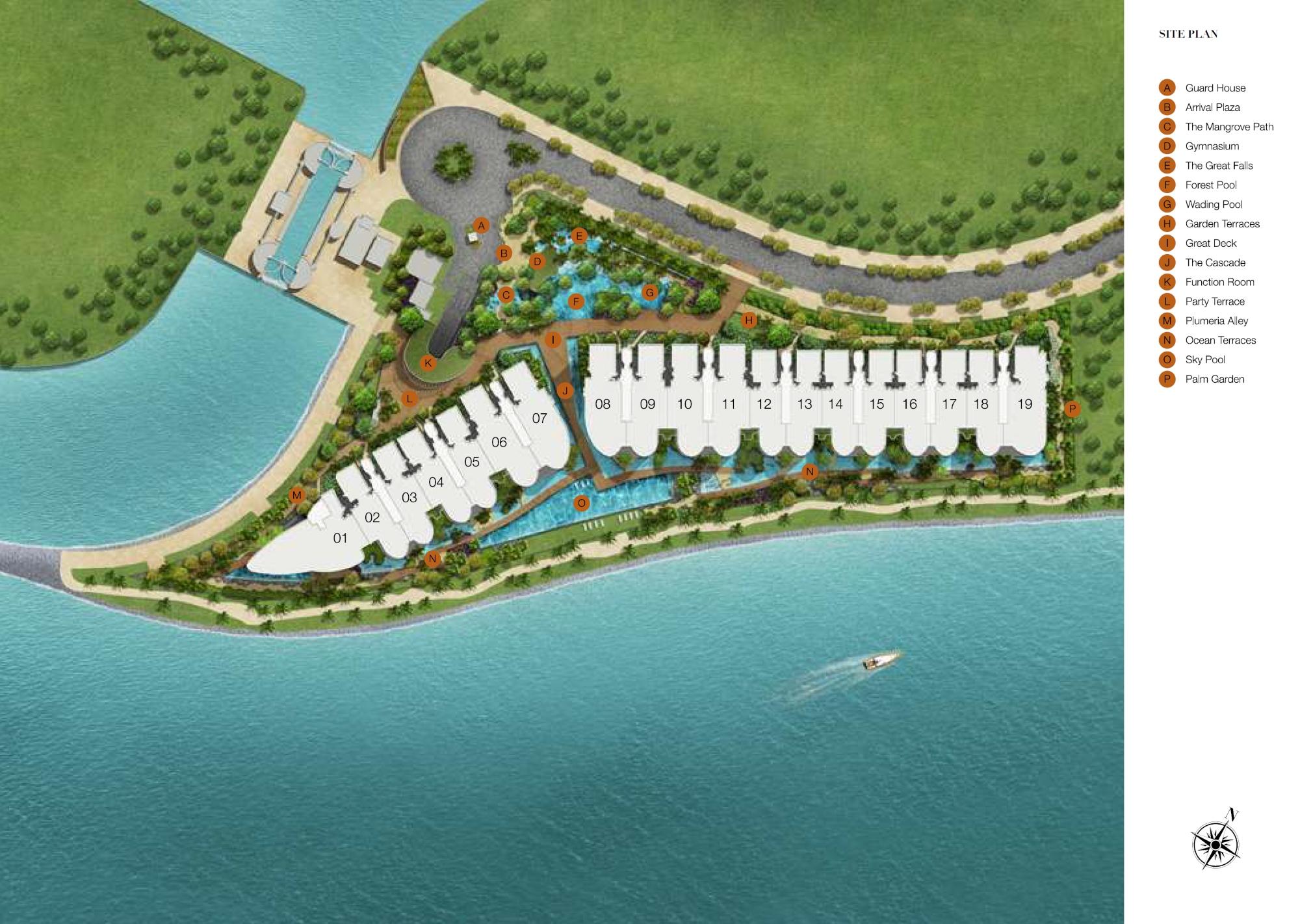 Seascape site plan