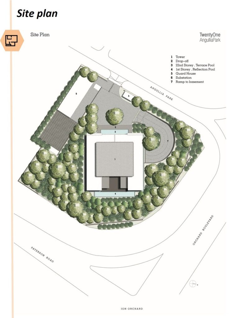 TwentyOne Angullia Park site plan