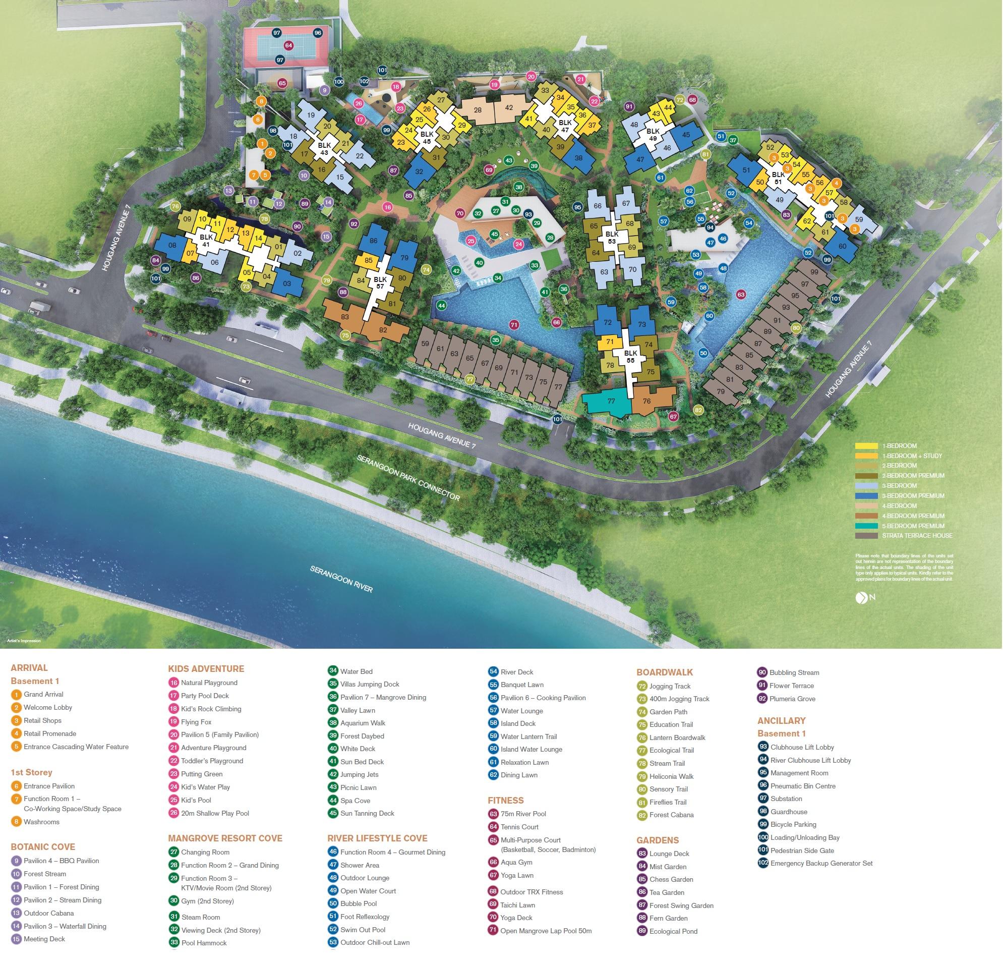 Riverfront Residences site plan