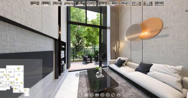 3D Virtual Tour of Kent Ridge Hill Residences 3 Bedroom Deluxe, 947sqft