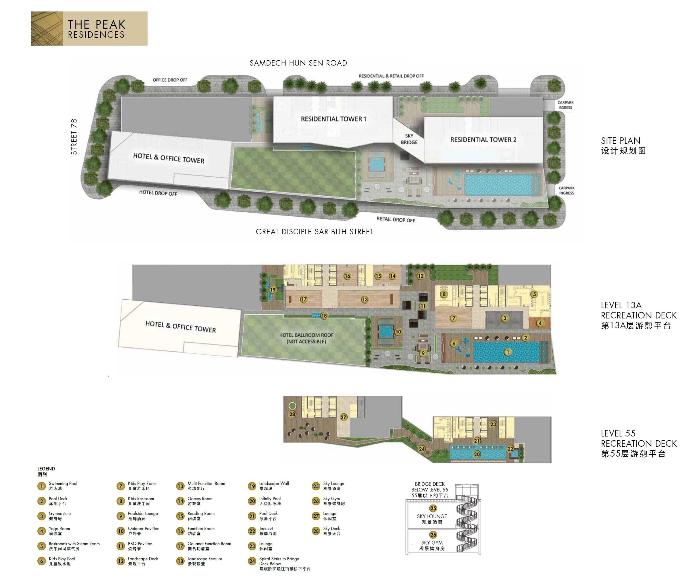 The Peak Residences @ Cambodia site plan