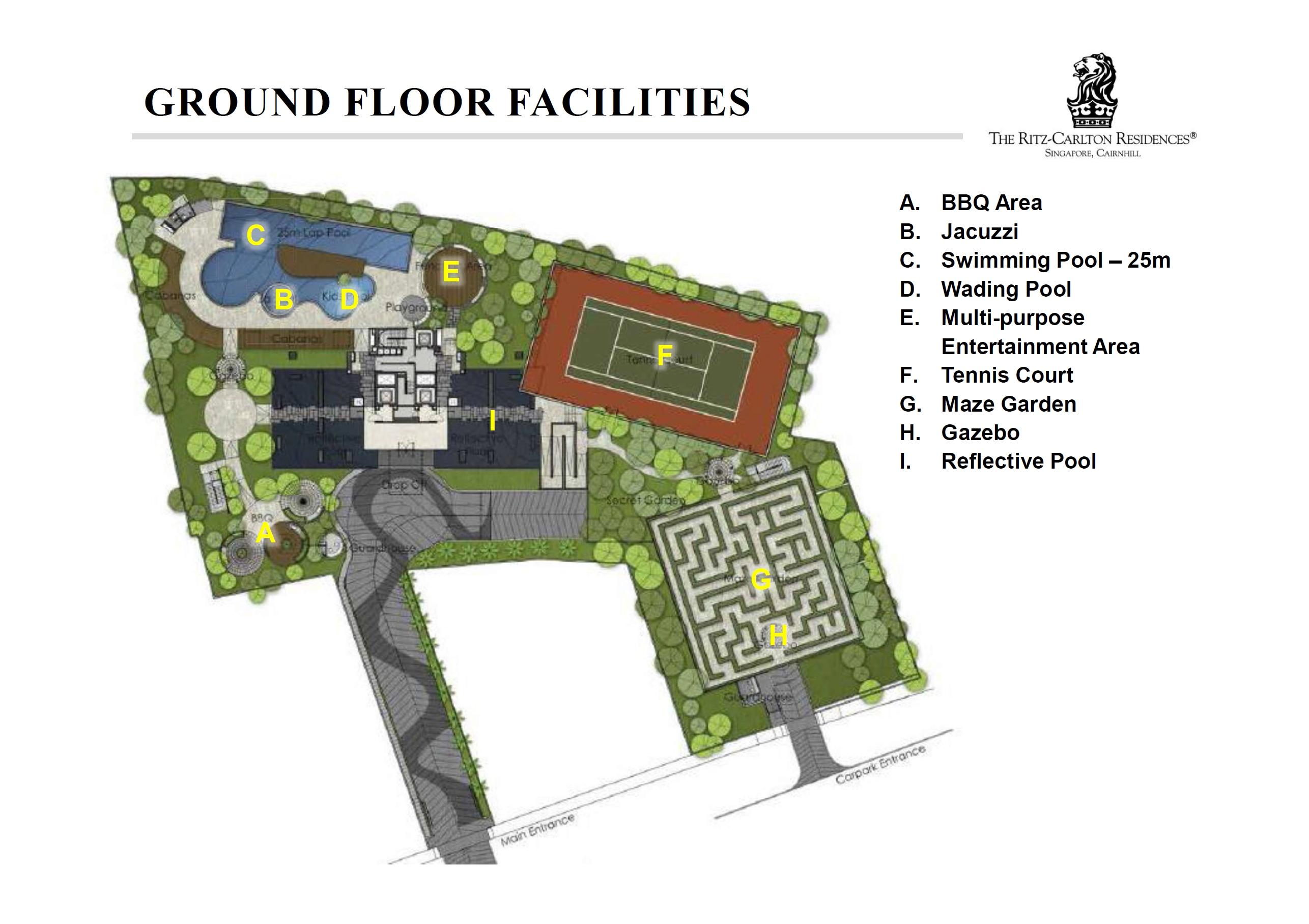 The Ritz-Carlton Residences site plan