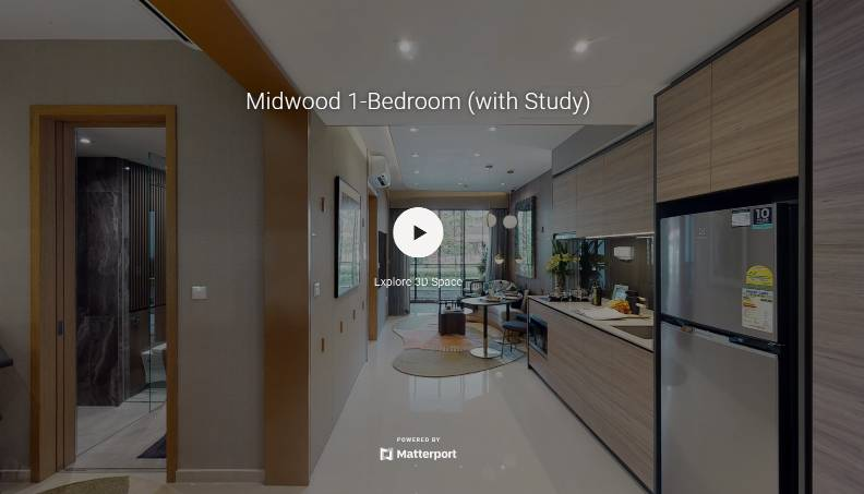 3D Virtual Tour of Midwood 1 Bedroom with Study