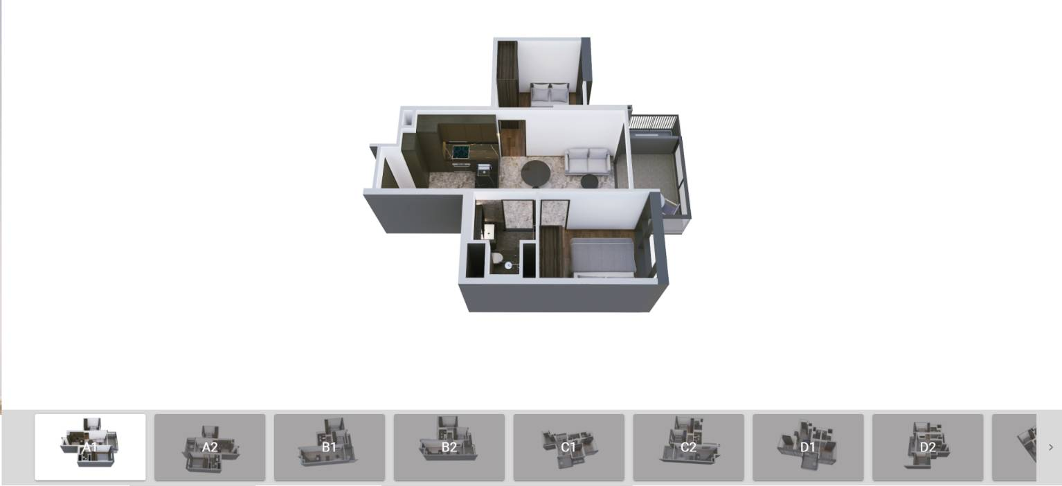 3D Floor Plans of Hyll on Holland Units