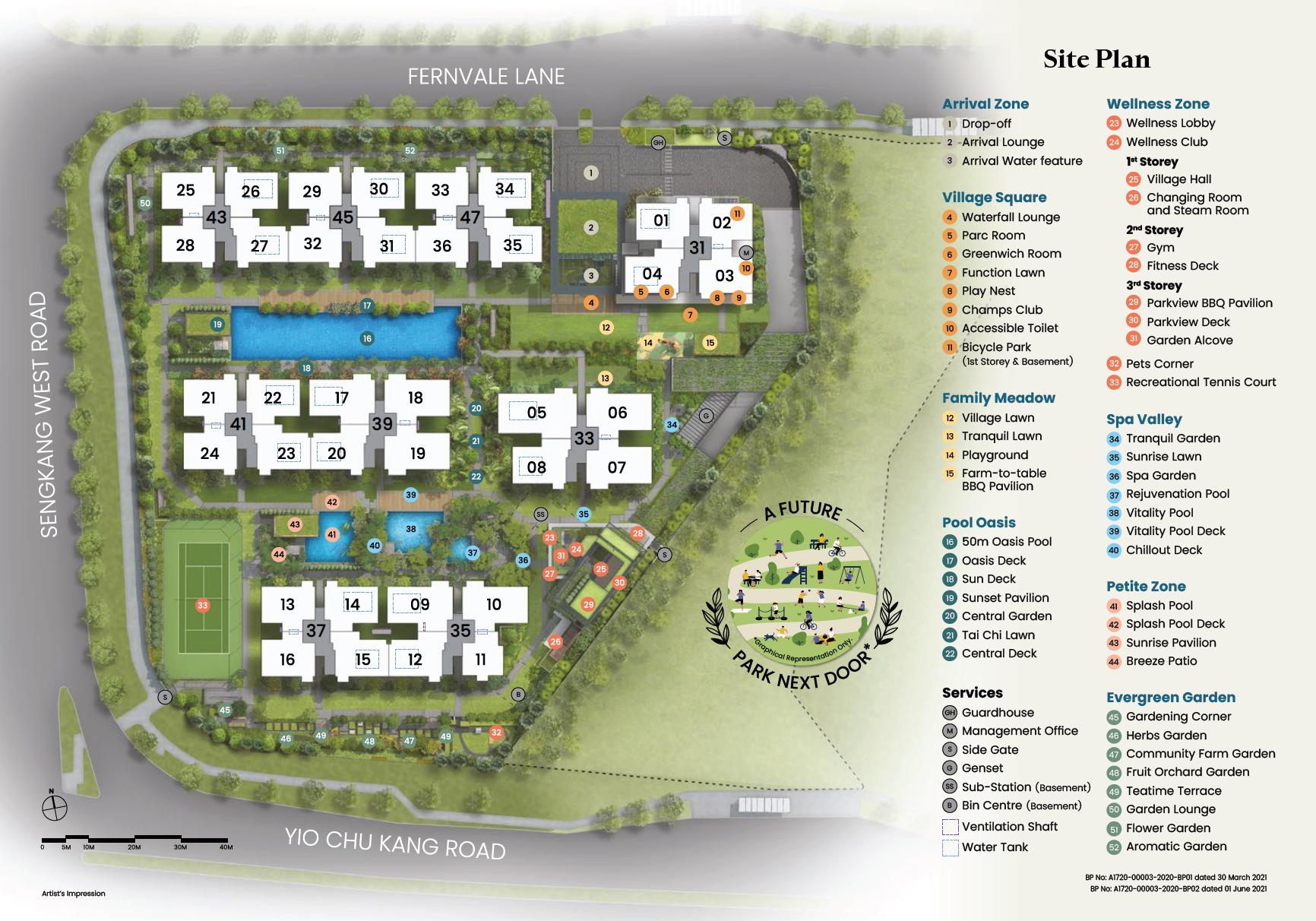 Parc Greenwich site plan