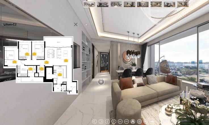 3D Virtual Tour of The Lilium 3 Bedroom Premium, Type C2