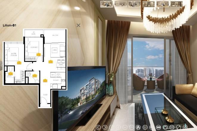 3D Virtual Tour of The Lilium 2 Bedroom, Type B1