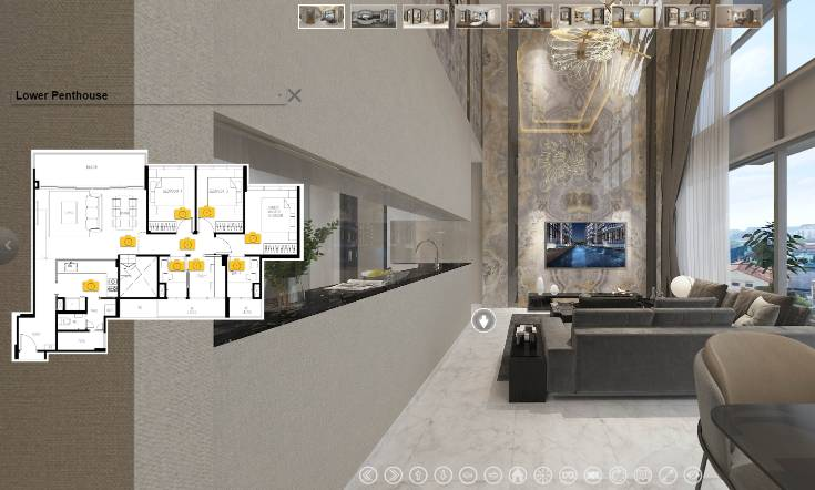 3D Virtual Tour of The Lilium 4 Bedroom + Study, Type PH1