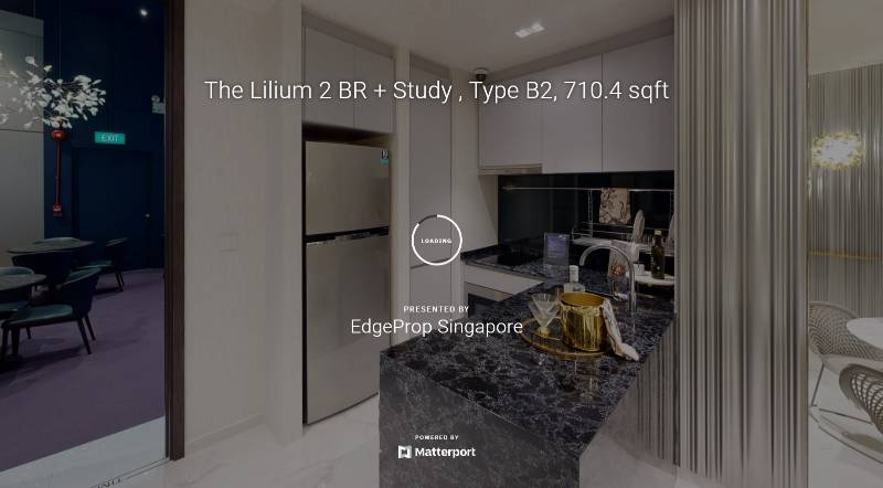 3D Virtual Tour of The Lilium 2 Bedroom + Study, Type B2, 710.4 sqft