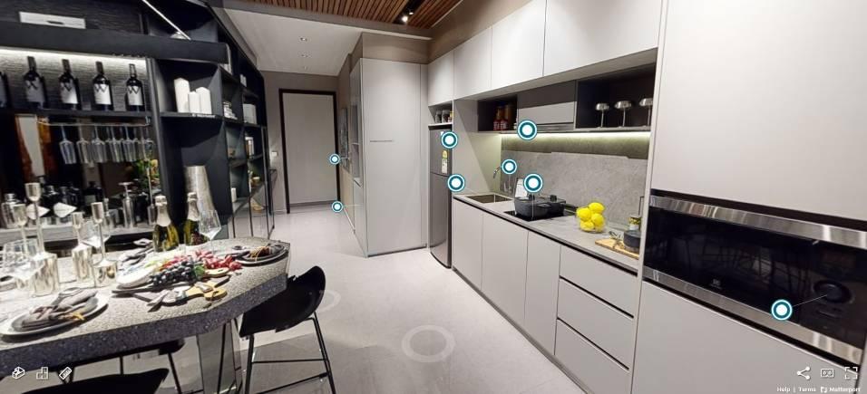 3D Virtual Tour of Parc Clematis 2 Bedroom Type 2BR1, 689 sqft