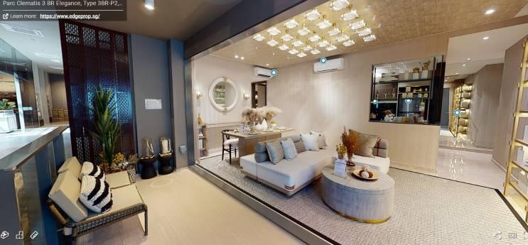 3D Virtual Tour of Parc Clematis 3 Bedroom Elegance Type 3BR-P2, 1076 sqft