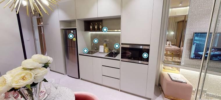 3D Virtual Tour of Parc Clematis 1 Bedroom Type 1BR2, 452 sqft