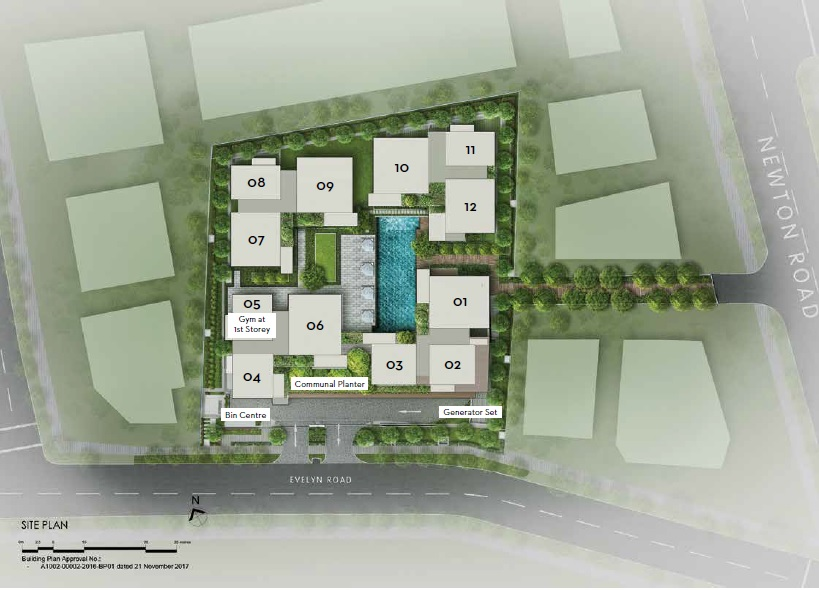 10 Evelyn site plan