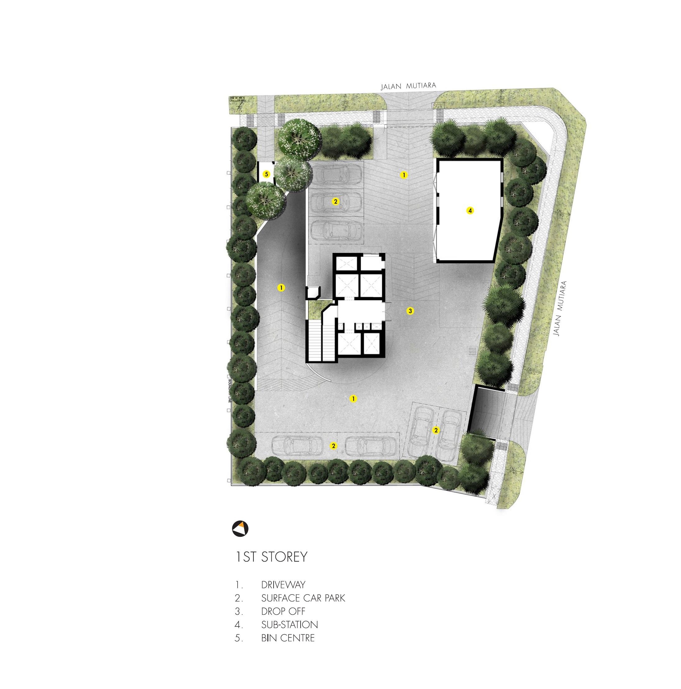 M5 @ Jalan Mutiara site plan