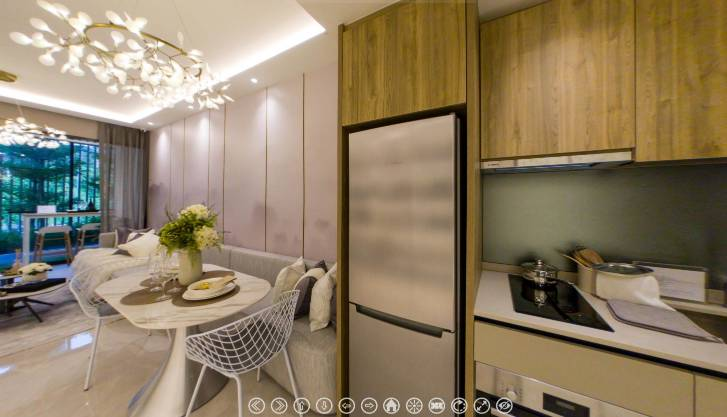 3D Virtual Tour of Dairy Farm Residences 2 Bedroom, Type 2B2