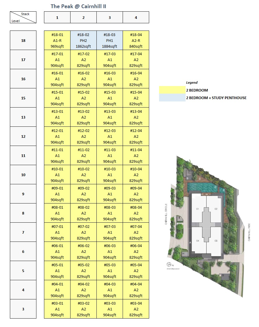The Peak @ Cairnhill II site plan
