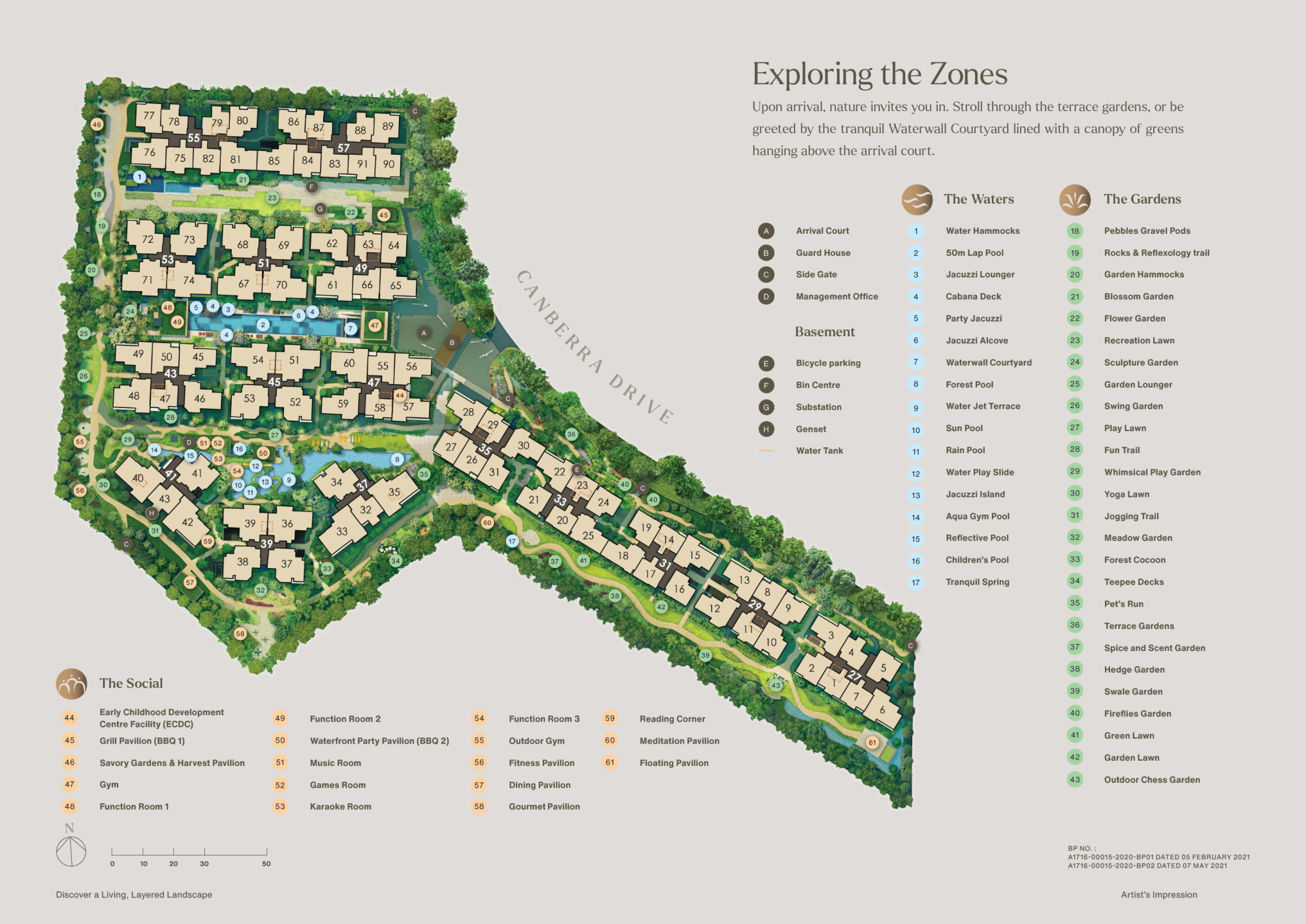 The Watergardens at Canberra site plan