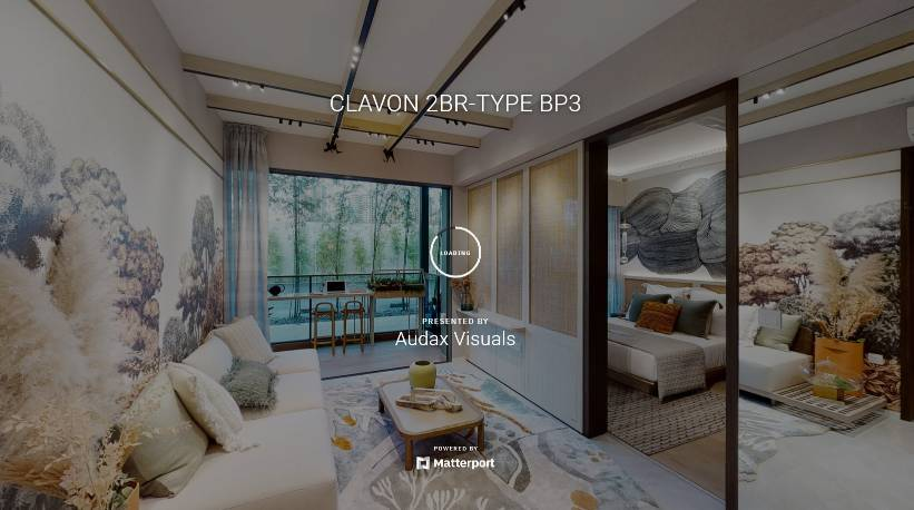 3D Virtual Tour of Clavon 2 Bedroom Type BP3