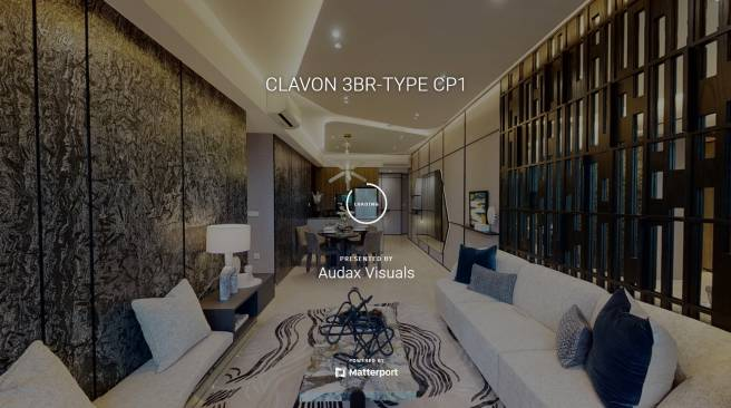 3D Virtual Tour of Clavon 3 Bedroom Type CP1